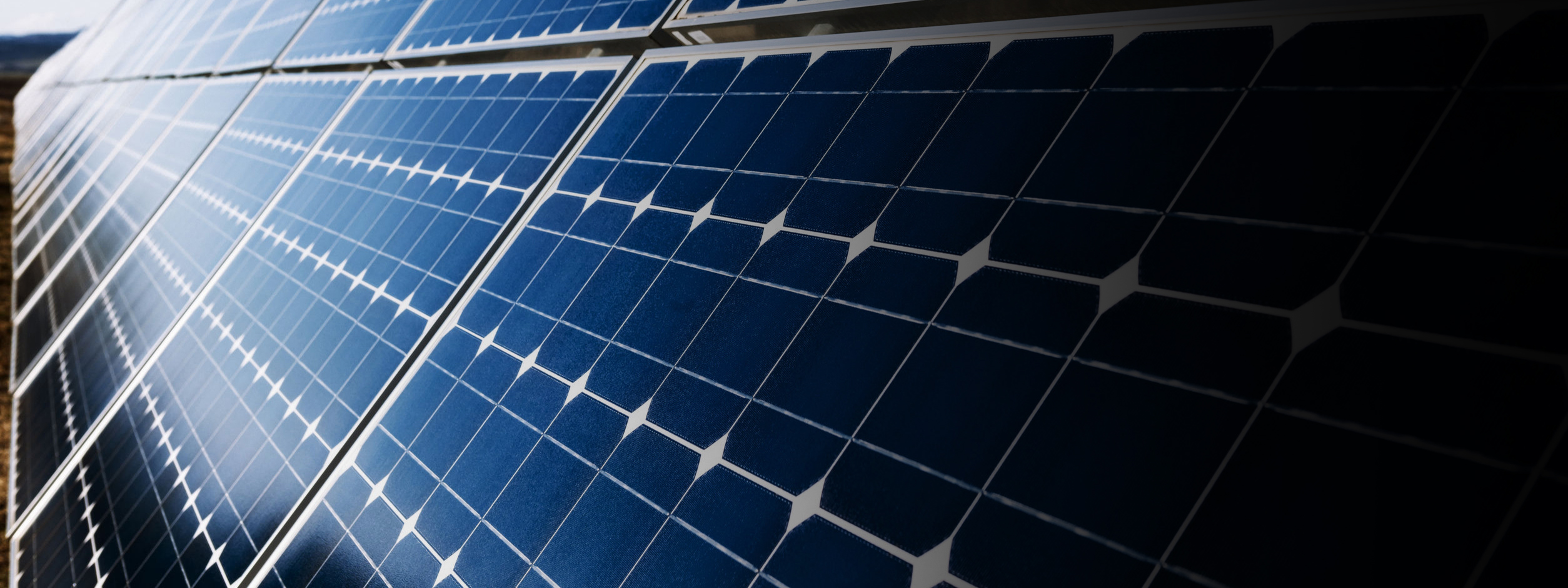 36162036 – blue solar panels with sunlight reflection
